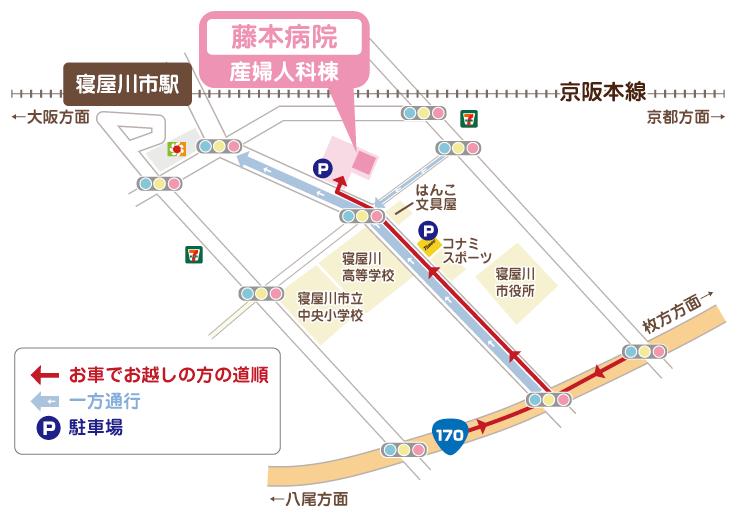 藤本病院地図