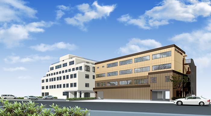 平成30年秋、新病棟完成予定時のイメージ図